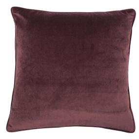Malini Luxe Aubergine Velvet Piping Cushion