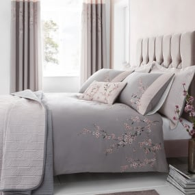 Catherine Lansfield Embroidered Blossom Bedding Collection