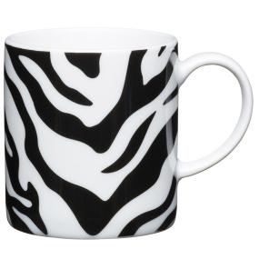 Zebra Porcelain Espresso Cup