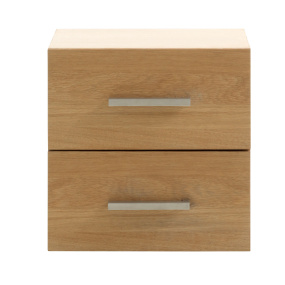 Quadra Oak Cube Two Drawer Unit