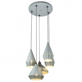 Globo Origami Grey 5 Light Pendant Light