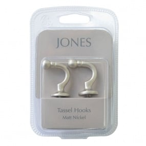 Pair of Ball Nickel Tassel Hooks