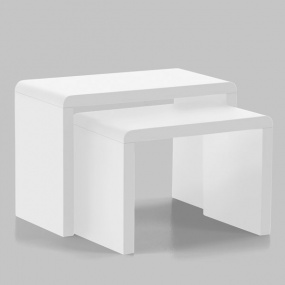 Nova High Gloss White Nest of Tables