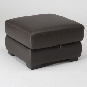 Natuzzi Editions Pulgia Small Leather Footstool