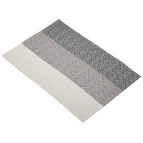 Grey Stripes Woven Placemat