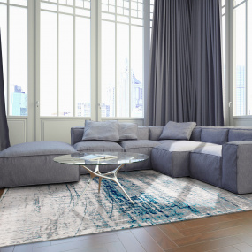Mad Men Bronx Azurite Rug Collection