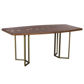 Molton Acacia Wood 180cm Dining Table - Angled | Housing Units