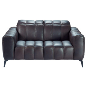 Natuzzi Editions Portento Brown Leather Loveseat - Front | Housing Units