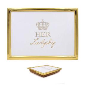 Golden Cushion Her Ladyship Laptray