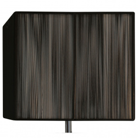 Silk String 14 Inch Black Rectangular Lamp Shade