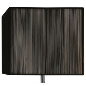 Silk String 14 Inch Black Rectangular Lamp Shade