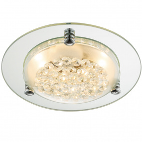 Froo Flush Clear Crystal LED Ceiling Light