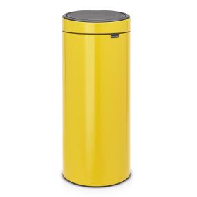 Brabantia 30 Litre Touch Bin New Daisy Yellow