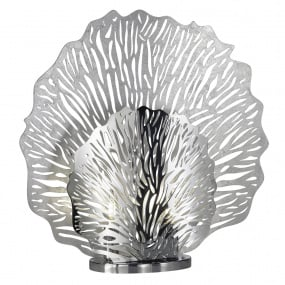 Coral Silver Small Table Lamp