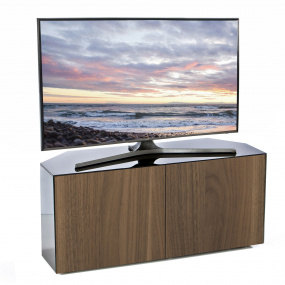 "Invictus Black and Walnut Corner TV Stand for up to 55"" TVs - Self Build"