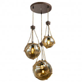 Globo Tiko Hanging 3 Light Pendant Light