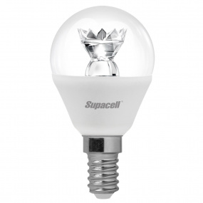 Supacell Digital LED Golf Ball Clear SES E14 5W Bulb