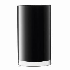 LSA Black Cylinder Vase