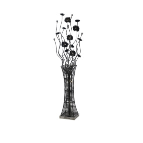 Majella Chrome & Black Aluminium Floor Lamp