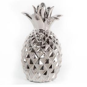 Small Chrome Pineapple Ornament