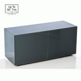 "Invictus Grey High Gloss TV Stand for up to 55"" TVs"