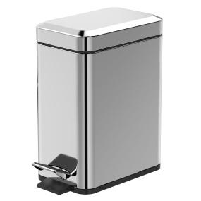 Showerdrape Cube 5 Litre Mirror Finish Pedal Bin