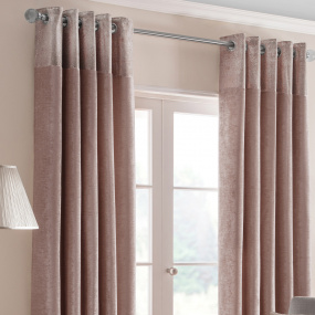Belfield Nova Blush 66x72 Curtains