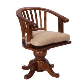 Meridien Reclaimed Wood Swivel Office Chair
