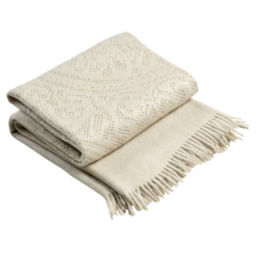 Christy Lace Linen Throw