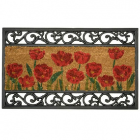 Dandy Wrought Iron and Coir Poppy Doormat