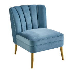 Cassidy Teal Velvet Accent Chair