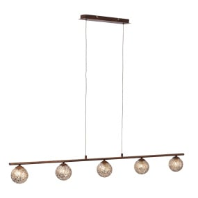 Greta Rust Bar Pendant Light