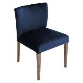 Hennessey Dark Blue Upholstered Dining Chair