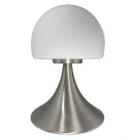 HU Home Jemima Satin Nickel Touch Table Lamp