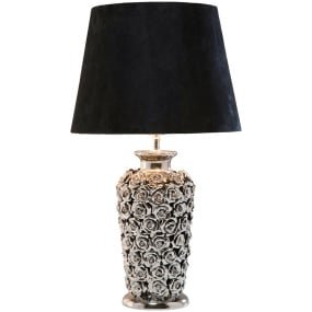 Rose Chrome Table Lamp with Shade
