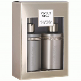 Vivian Gray Brown Crystal Soap & Hand Lotion