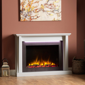 Katell Merone Textured Grey Electric Fire Suite