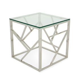 Vienna Clear Glass Side Table