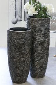 Large Metal Tall Tub Vase