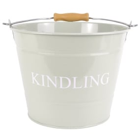 Olive Green Small Kindling Bucket with Lid