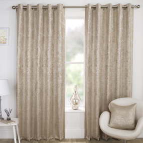 Halo Natural 90x90 Eyelet Curtains