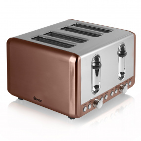 Swan Townhouse Copper 4 Slice Toaster