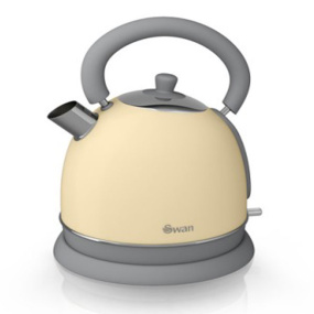 Swan Retro Cream 1.8 Litre Dome Kettle