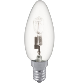 Halogen Clear Candle Clear SES E14 28W Light Bulb