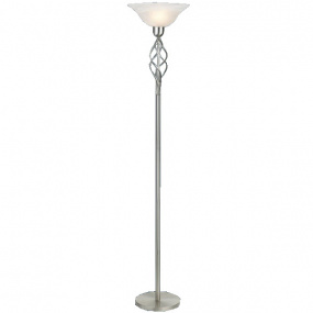 HU Home Barley Satin Chrome Floor Lamp