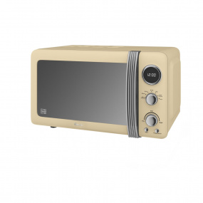 Swan 800W Retro Cream Digital Microwave