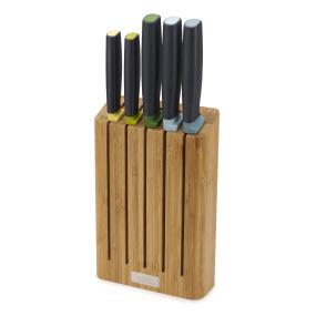 Joseph Joseph 5 Piece Bamboo Knife Block Set