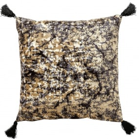Scatter Box Sabine Black and Gold Cushion Gold Side