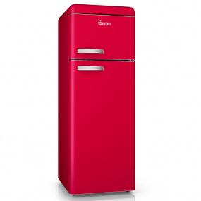 Swan Retro Red Top Mounted Fridge Freezer