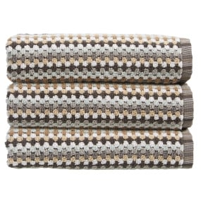 Christy Carnaby Stripe Neutral Bath Towel